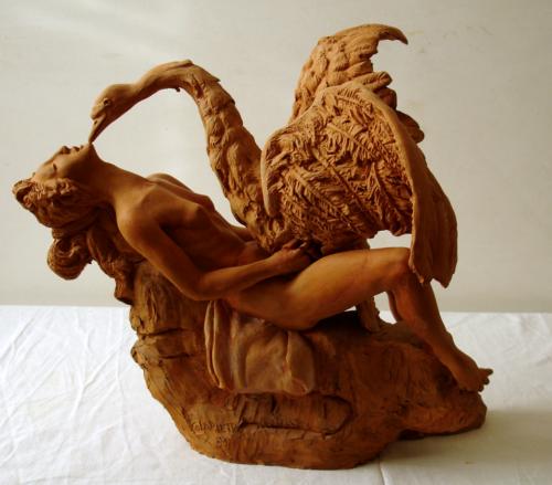Leda e il cigno (terracotta)