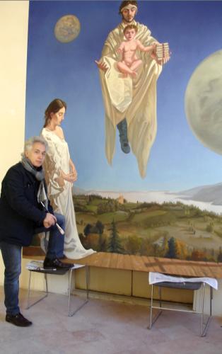 Mentre dipingo. Urbino.