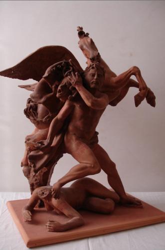 Pegaso e Perseo (terracotta)
